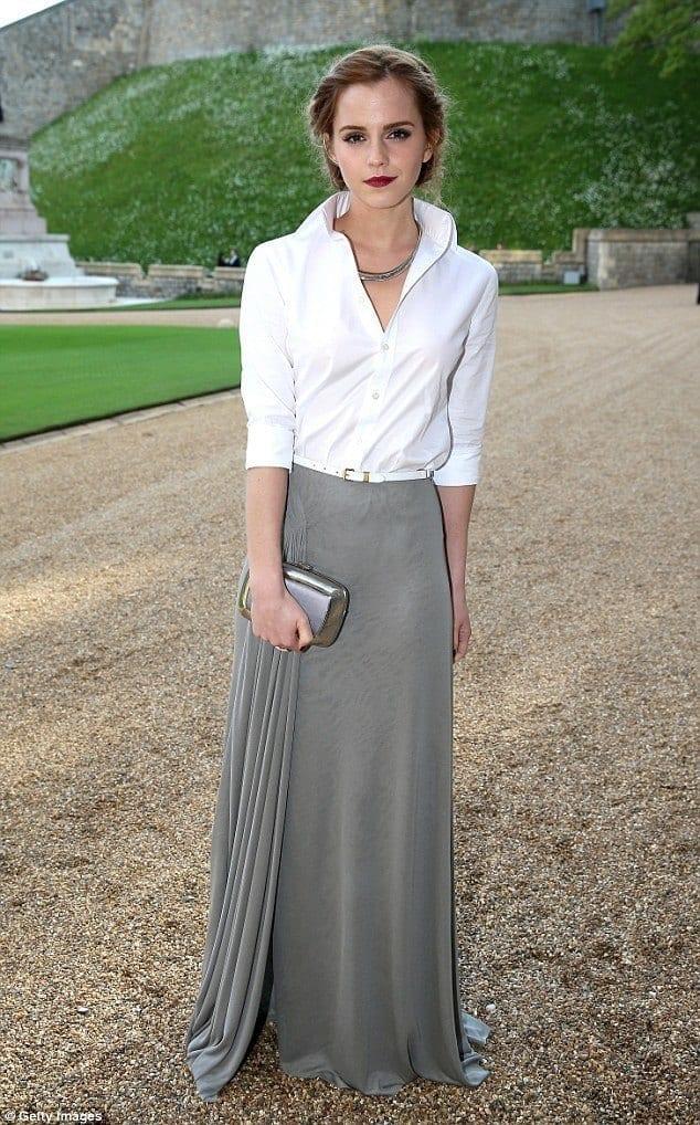 18-A-Slender-Formal-Long-Dress Emma Watson Outfits - 25 Best Dressing Style of Emma Watson