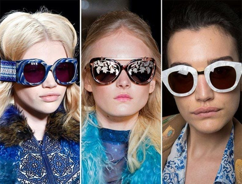 2-With-Marble-Frames Sunglasses 2016-Eye-wear Fashion Trends 30 Best Glasses to Check