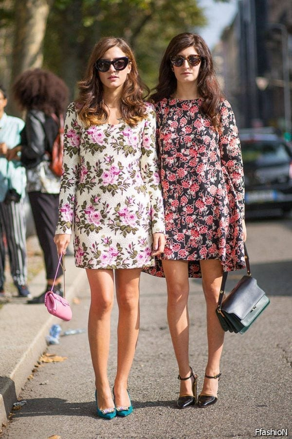 6-Beautiful-Floral-Printed-Dress Women Summer Street Style-30 Cute Summer Styles to Copy in 2016