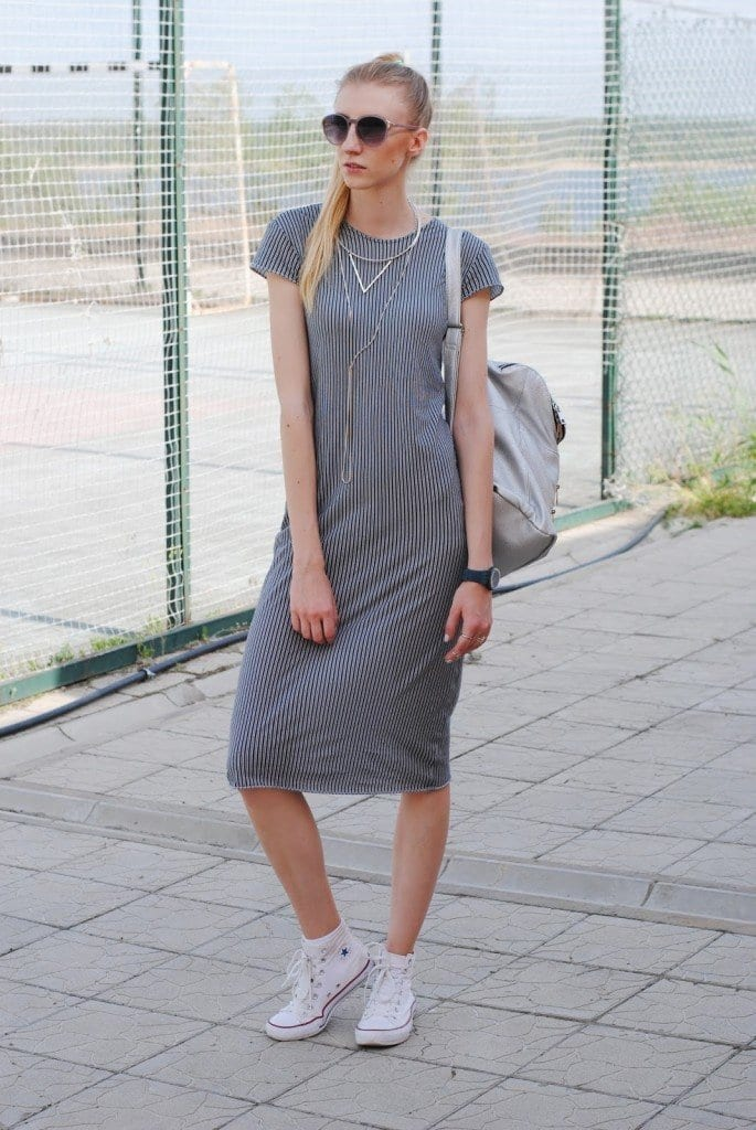 9-Sleek-Dress-Outfit-Style-with-Joggers-685x1024 Women Summer Street Style-30 Cute Summer Styles to Copy in 2016