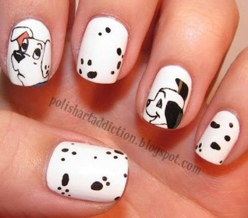 dalmatians-manicure-500x439 Short Nail Designs - 25 Cute Nail Art Ideas for Short Nails