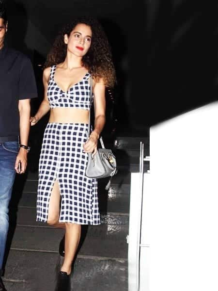 kagnacheckered Kangna Ranaut Outfits – 30 Best Dressing Styles of Kangna