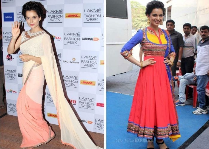 kangana-indian700 Kangna Ranaut Outfits – 30 Best Dressing Styles of Kangna