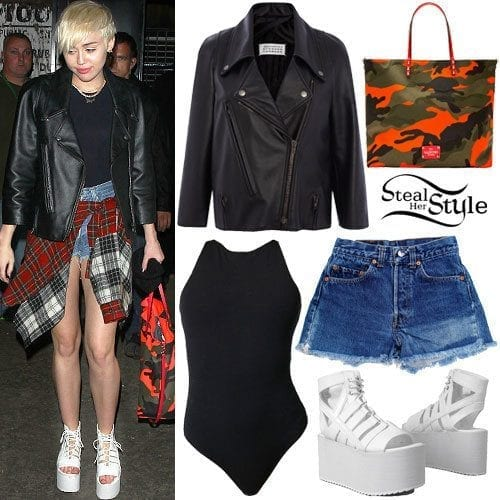 12-The-Flatform-Sandals-Style Miley Cyrus Outfits-25 Best Dressing Styles of Miley Cyrus to Copy