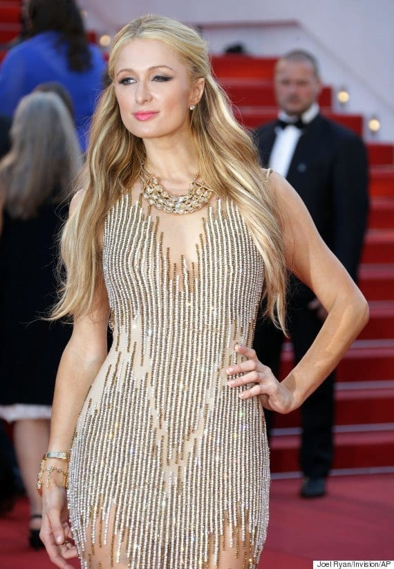 15-Shining-Stripped-Outfit Paris Hilton Outfits-25 Best Dressing Styles of Paris Hilton to Copy