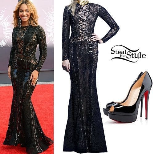 3-Her-VMA-Gown Beyonce Outfits - 25 Best Dressing Styles of Beyoncé to Copy
