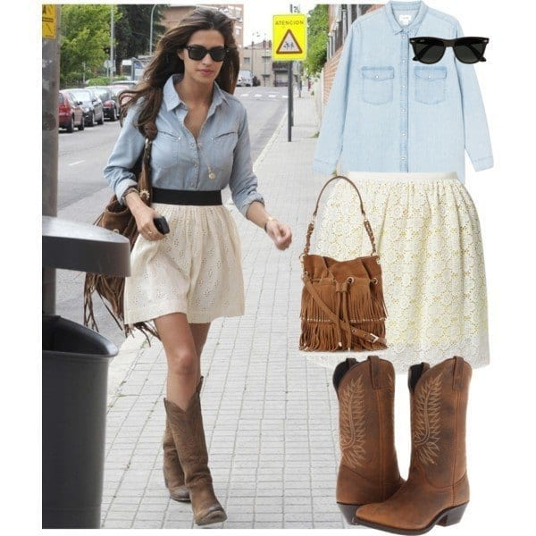 #3 - The Prettiest Lace Skirt Look