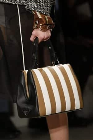 Prada-WhiteBlackTan-Striped-Top-Handle-Bag-2-Spring-2016-300x450 2016/2017 Prada Handbags and Purse Collection