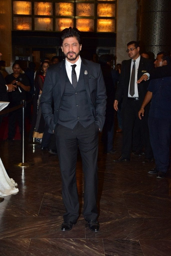 srk-in-a-tuxedo-683x1024 Preity Zinta Marriage Pics-Wedding Dress and Guest Celebrities Outfits