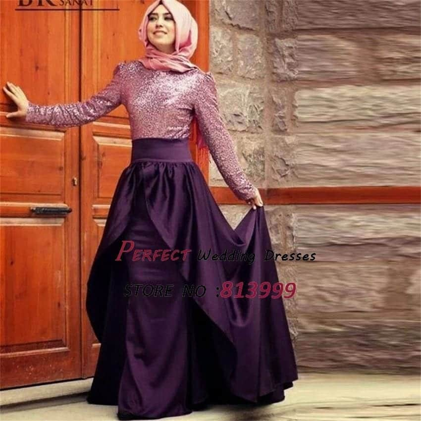2016-Purple-font-b-Hijab-b-font-Long-Dress-font-b-Abaya-b-font-Kaftan-Sequins 15 New Abaya Styles for Teenage Girls For Modest Look