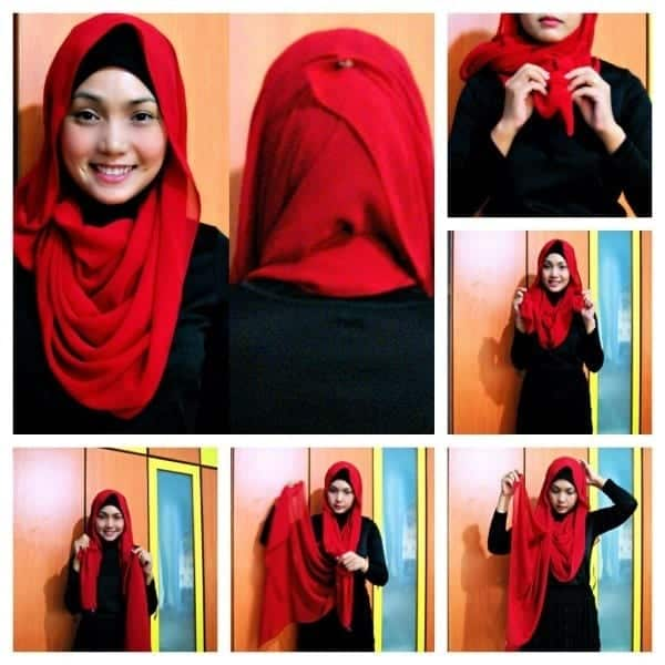 arabic-style Pashmina Hijab Styles-18 Ways to Wear Hijab With Pashmina
