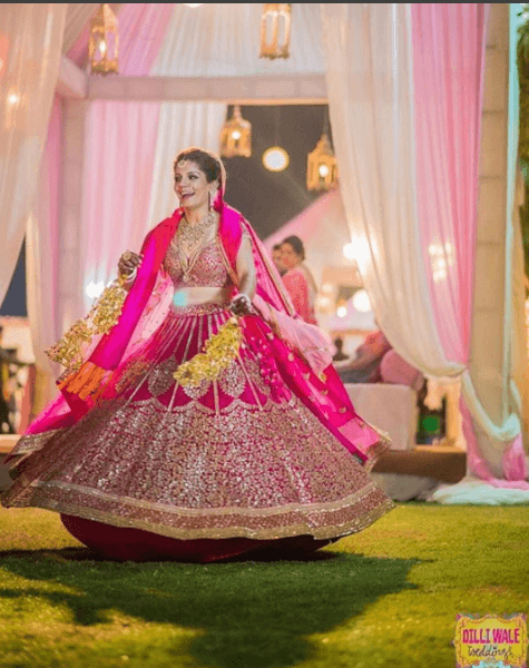 how to wear bridal lehenga dupatta (15)