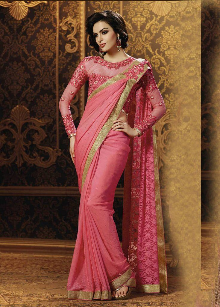 dark-tea-pink-south-indian-magic-735x1024 23 Latest Indian Wedding Saree Styles to Try this Year