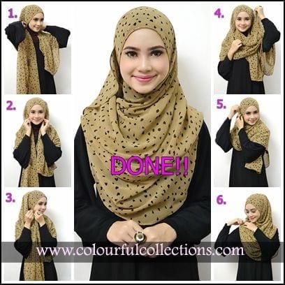 hijab-pashmina-abaya Pashmina Hijab Styles-18 Ways to Wear Hijab With Pashmina