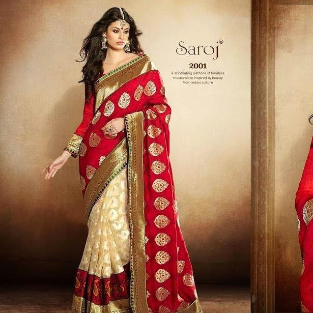 model-posing-in-a-classy-south-indian-saree 23 Latest Indian Wedding Saree Styles to Try this Year
