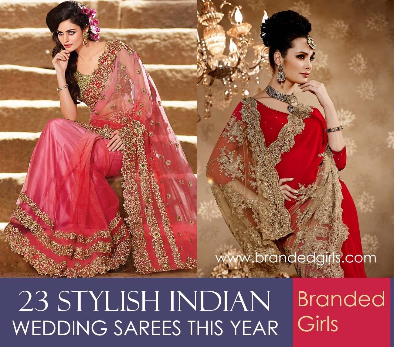 polyvore-sample-19 23 Latest Indian Wedding Saree Styles to Try this Year
