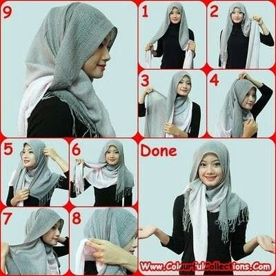 shawl-turned-pashmina Pashmina Hijab Styles-18 Ways to Wear Hijab With Pashmina