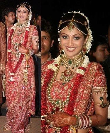 shilpa's wedding dress