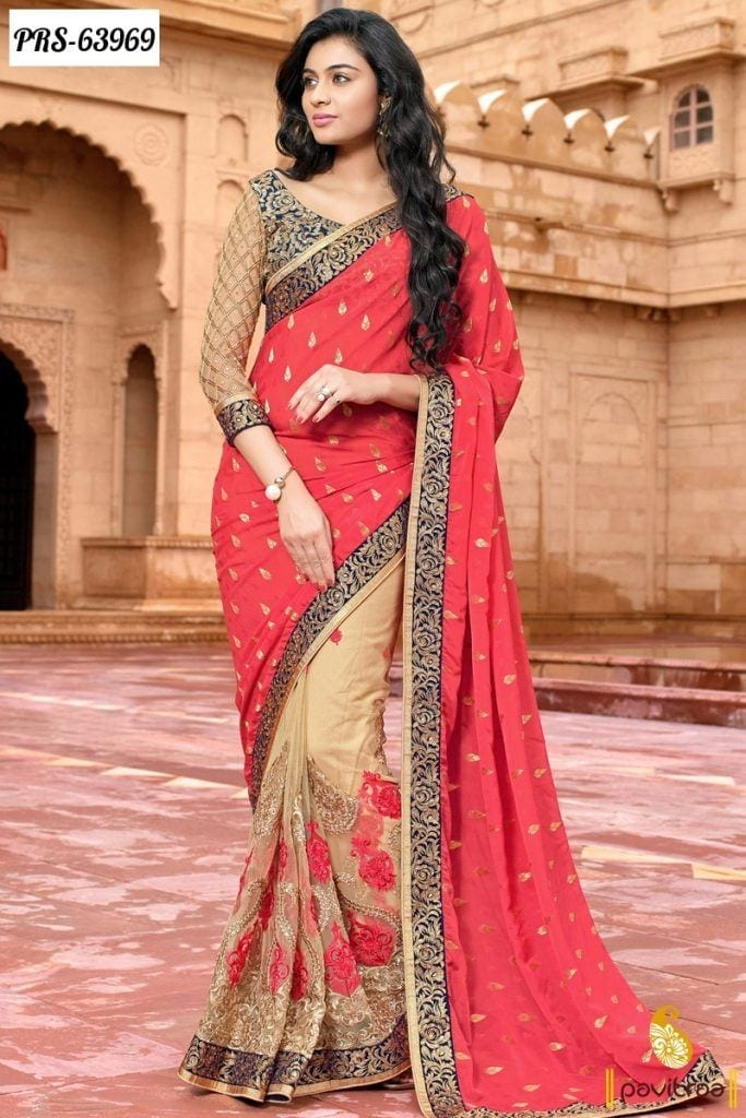 simple-wedding-south-indian-saree-683x1024 23 Latest Indian Wedding Saree Styles to Try this Year