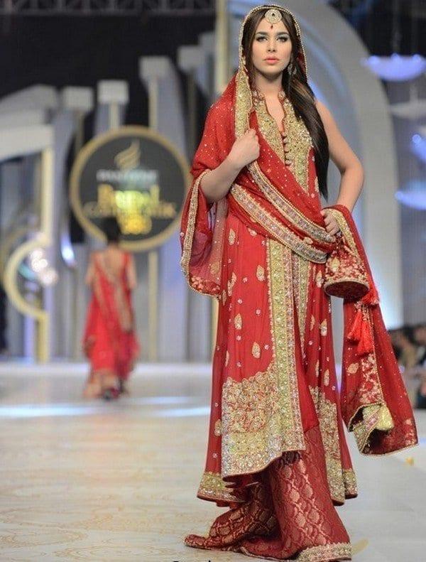 Bridal-Sharara-with-Sleeveless-Long-Shirts33 Bridal Sharara Designs-20 News Designs and Styles to Try