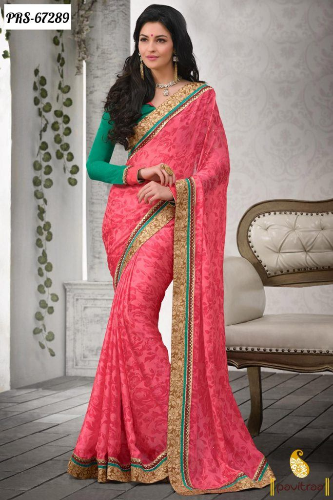 Buy-Online-Beautiful-Sarees-in-Discount-Offer-Sale-Rs.1700-1-683x1024 Latest Bridesmaid Saree Designs-20 New Styles to try in 2016