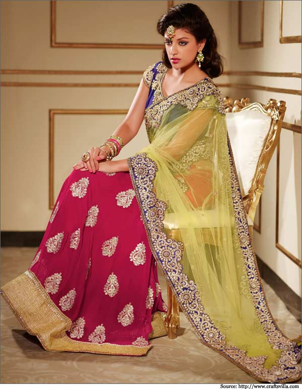 20 best sarees for the mothers of the bride this year 2016 for Ready to wear wedding dresses online