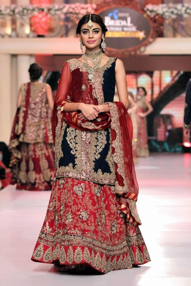 HSY_Bridal_Collection_Telenor_Bridal_Couture_Week_2015_3 Bridal Sharara Designs-20 News Designs and Styles to Try