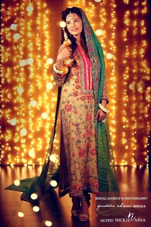 Indian-Bridal-Fashion-Designs-2 Dholki Outfits-20 Ideas What to Wear on Dholki/Sangeet Night