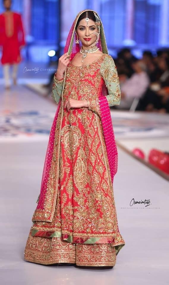 Indian-Bridal-Wedding-Sharara-Designs-Collection-2015-2016-2 Bridal Sharara Designs-20 News Designs and Styles to Try