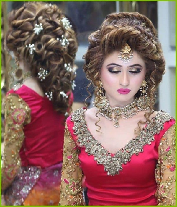 Pakistani-Bridal-Makeup-2016-Tips-and-Ideas4-600x700 Bridal Sharara Designs-20 News Designs and Styles to Try