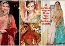 bridal lehnga dupatta styles