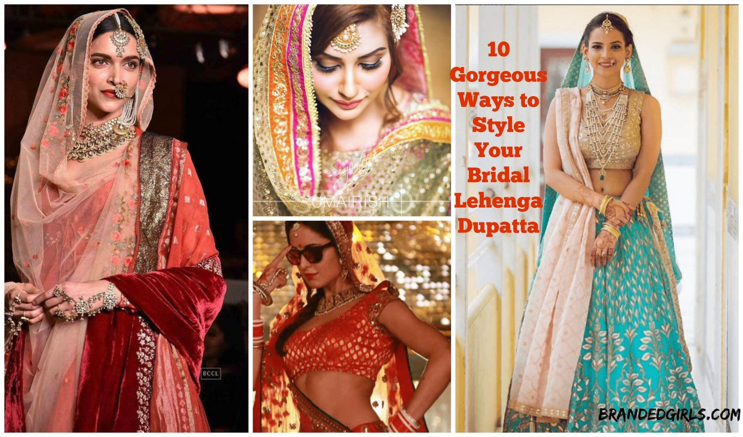 28 Best Lehenga dupatta images | Saree hairstyles, Bridal ...