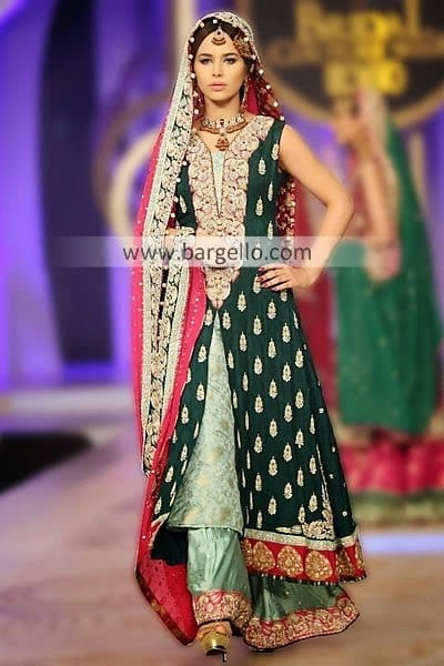 Sana-Abbas-Beautiful-Bridal-Dresses-2014-2015-At-Pantene-Bridal-Couture-Week-3 Bridal Dupatta Settings–17 New Ways to Drape Dupatta for A Wedding