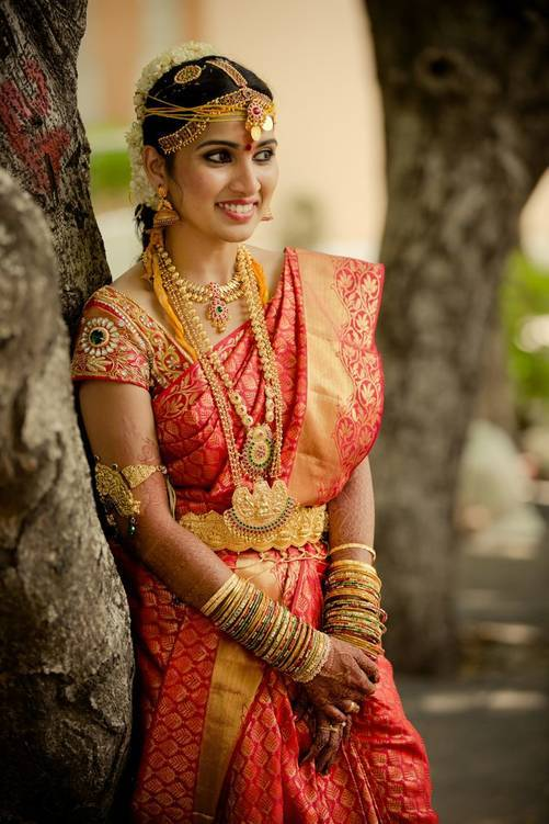 South-Indian-Bridal-Sarees-2 23 Latest South Indian Wedding Sarees To Try This Year