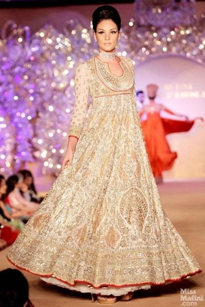 abujani-dress-1 30 Latest Indian Bridal Gown Styles and Designs to Try this Year