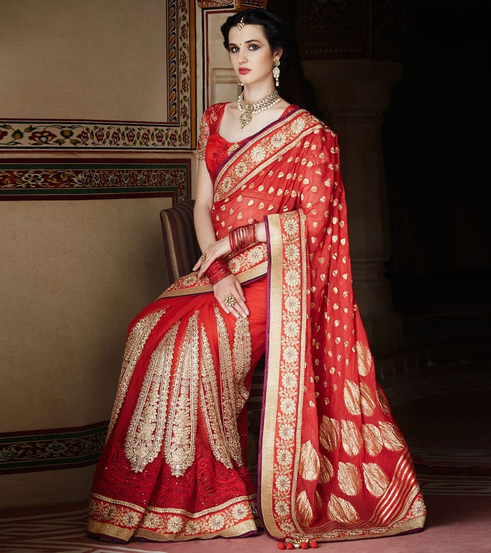 bride 23 Latest Indian Wedding Saree Styles to Try this Year
