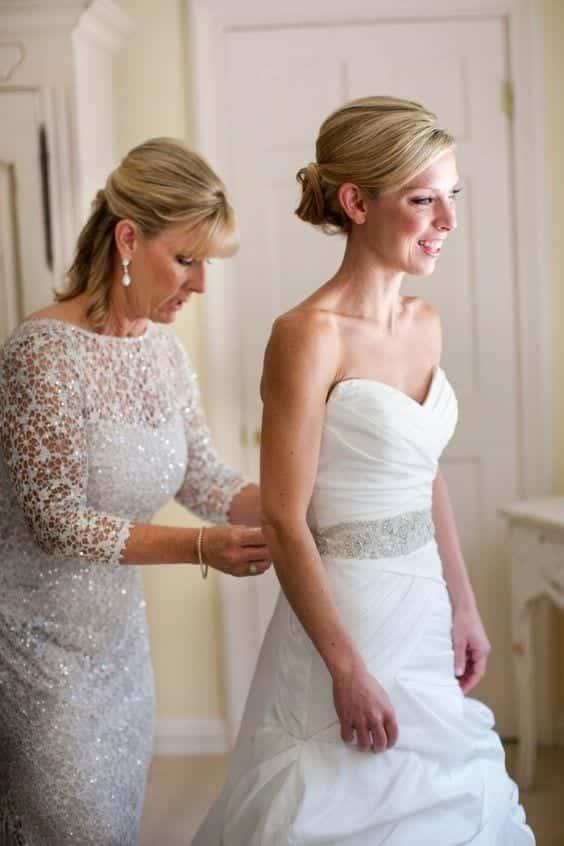 brides mother crystal dress