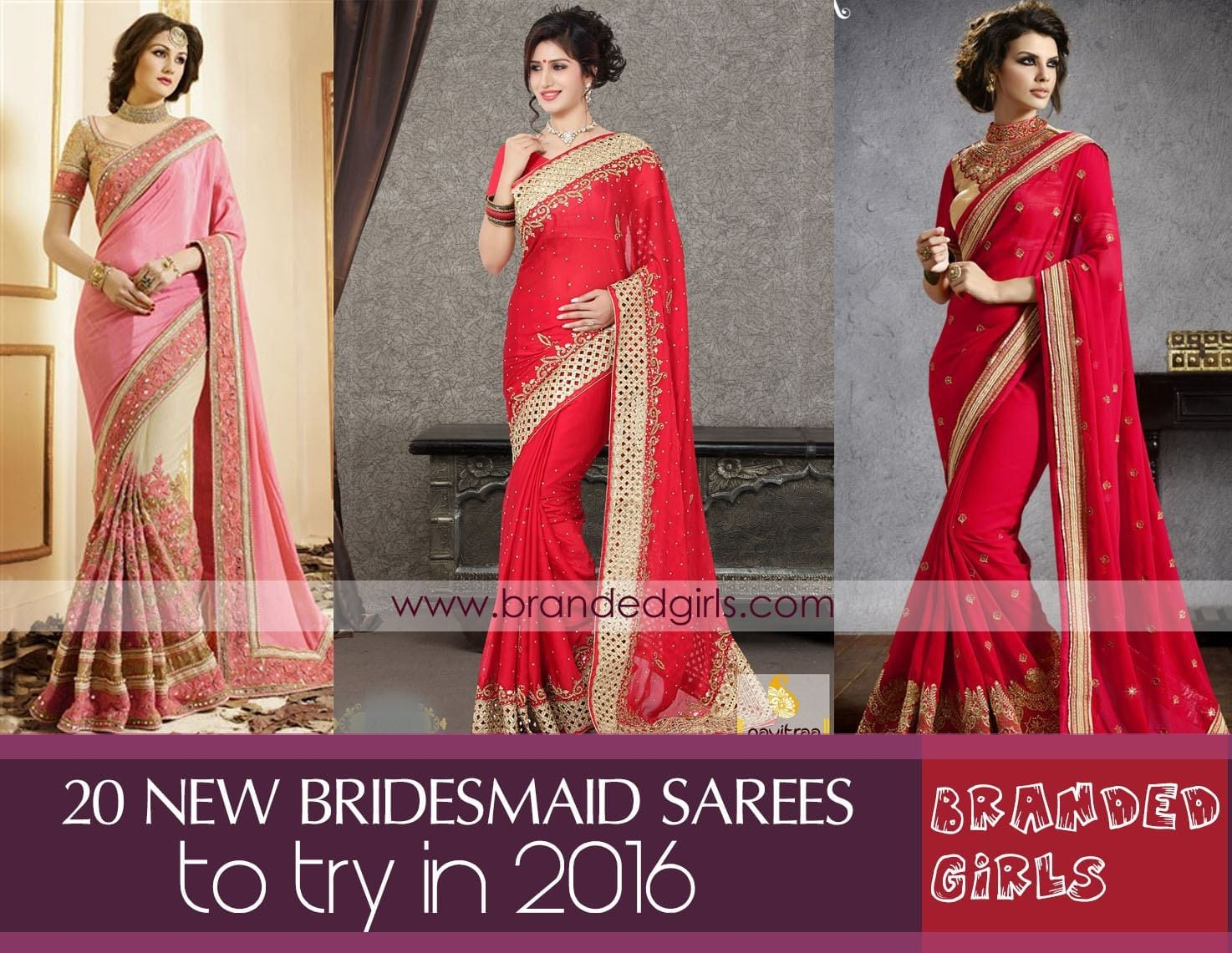 bridesmaid-sarees Latest Bridesmaid Saree Designs-20 New Styles to try in 2016