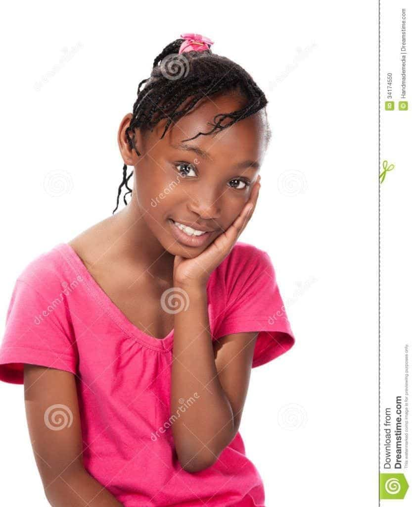 cute-african-girl-adorable-small-child-braids-wearing-bright-pink-shirt-sitting-smiling-camera-34174550-837x1024 50 Cutest Pictures of African Girls of All Ages