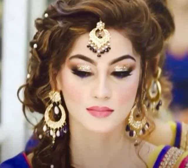 dholki-makeup Dholki Outfits-20 Ideas What to Wear on Dholki/Sangeet Night