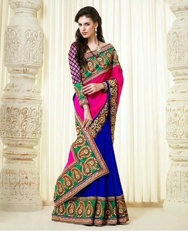 indian-wedding-sarees-online-1 Latest Bridesmaid Saree Designs-20 New Styles to try in 2016