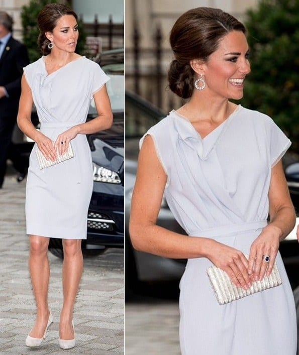 kate-middleton-creative-industires-reception-2012-roksanda-ilincic-dress 20 Times Kate Middleton Recycled Her Wardrobe