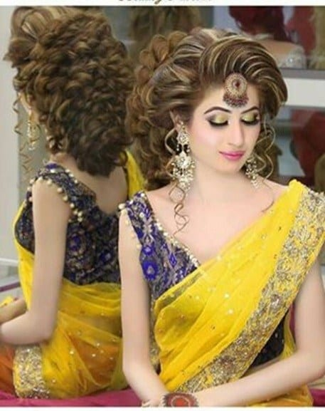 makeup-2 Dholki Outfits-20 Ideas What to Wear on Dholki/Sangeet Night