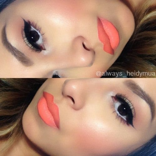 makeupcoral-lips Bridal Sharara Designs-20 News Designs and Styles to Try