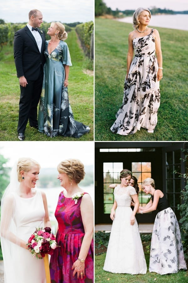 mother of bride printed outfits