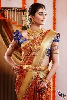 south-india-sarees-02-2 23 Latest South Indian Wedding Sarees To Try This Year