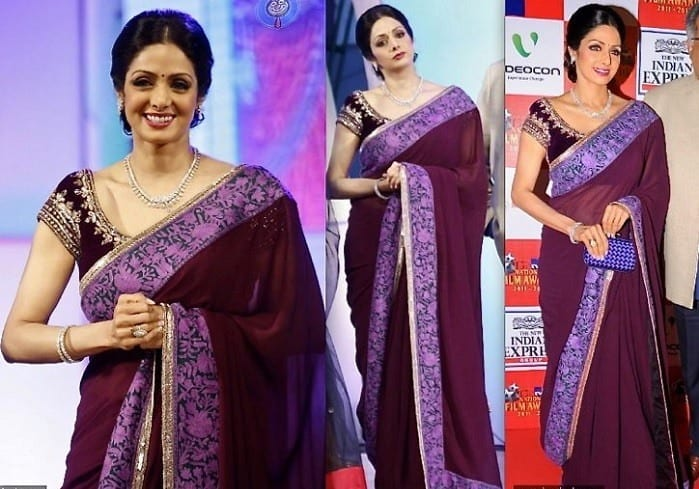 sridevi-kapoor 20 Best Sarees for the Mothers of The Bride this Year 2016