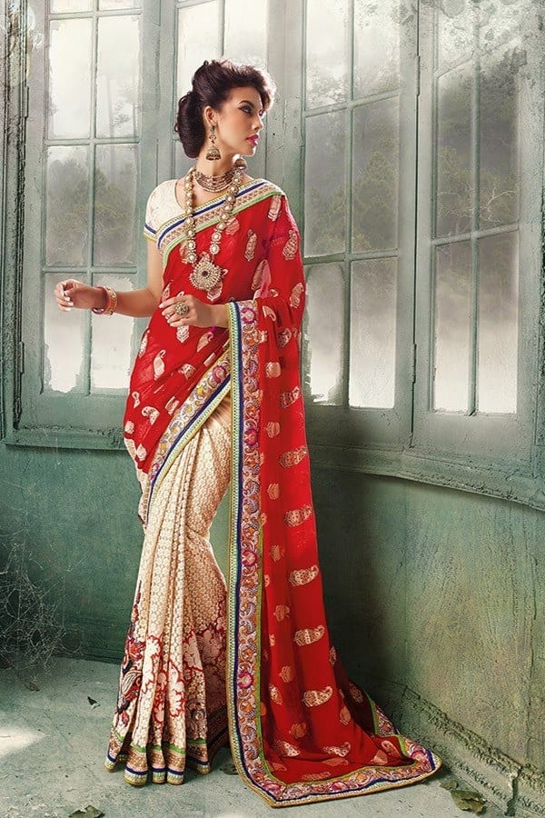 stunning-red-hot Latest Bridesmaid Saree Designs-20 New Styles to try in 2016