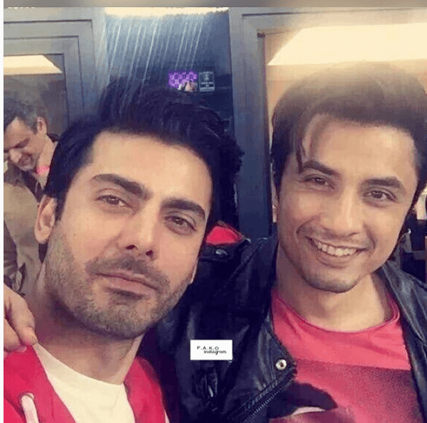 Exciting-Selfies-of-Fawad-Khan-with-Ali-Zafar-at-PSL.-two Fawad Khan Pictures - 30 Most Stylish Pictures of Fawad Khan