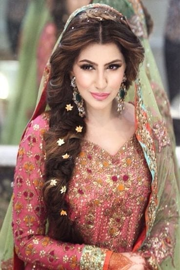 Pakistani-Bridal-wedding-Hairstyles-Trend-1 Indian Bridesmaid Dresses-24 Latest Dresses Designs for Bridesmaids